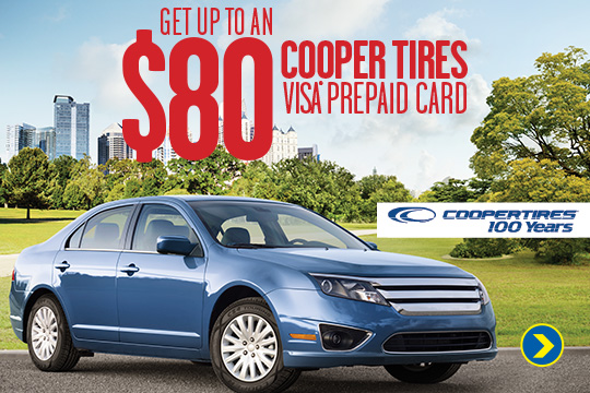 Cooper Tire up to $80 Visa Card