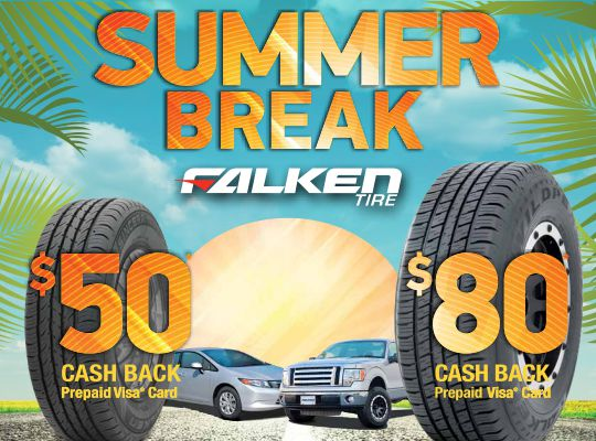 Falken up to $80 Visa Prepaid Card