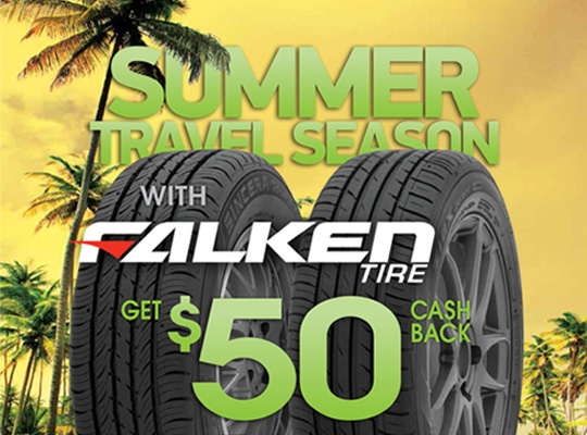 Falken up to $50 Visa Prepaid Card