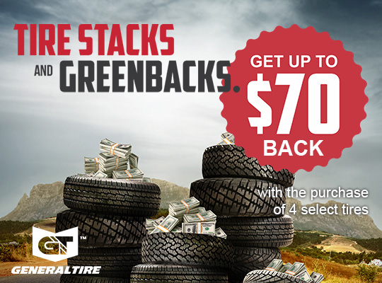 General Tire up to $70 Back