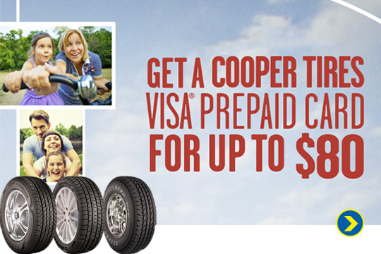 Get Up To $80 Rebate on Cooper Tires