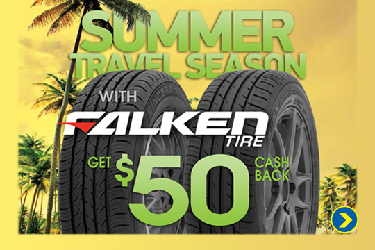 $50 Mail-In rebate on Falken Tires