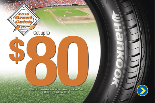 Get Up To $80 Rebate on Hankook Tires