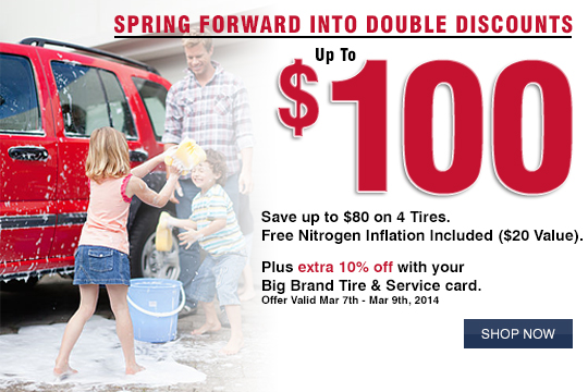 Spring Forward Into Double Discounts