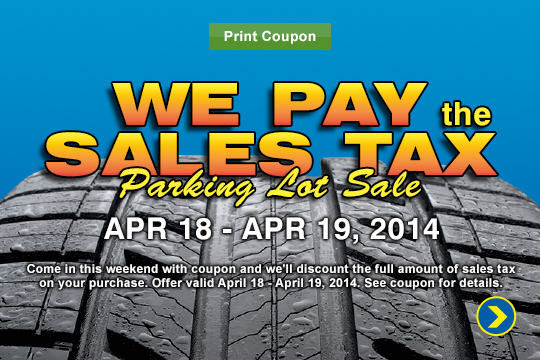 We Pay The Sales Tax