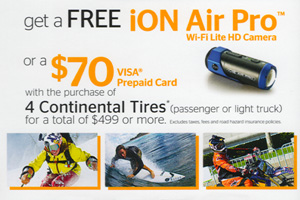 Continental Tire $70 mail in rebate - 4 tires