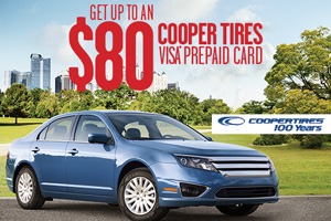 Cooper Tire $50 mail in rebate - 4 tires