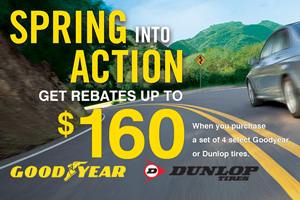 $80 Mail-in Rebate on DUNLOP Tires