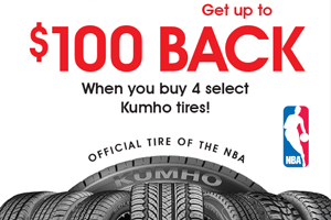 Kumho $80 mail-in rebate - 4 tires