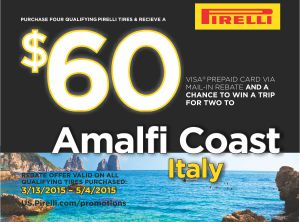Pirelli Visa Mail-in Rebate