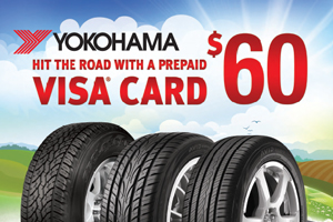 Yokohama $60 mail-in rebate - 4 tires